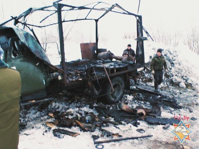 Во время пожара взорвался кислородный