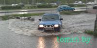 Потоп на улице Суворова в Бресте бьет рекорды. А коммунальникам некогда почистить ливневку? (фото)