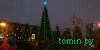 В Бресте торжественно открылась главная елка города - фото