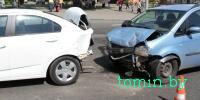 В Бресте 12 мая «Фиат» врезался в стоящий у пешеходного перехода «Шевроле»: трое пострадавших – фото