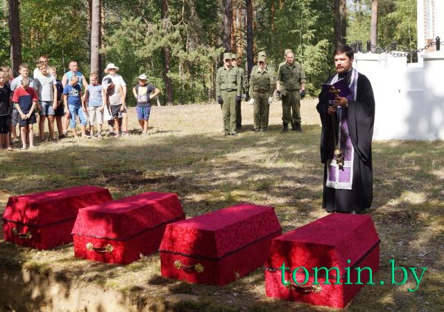 В Пружанcком районе перезахоронили останки 29 воинов, погибших в битве под  Городечно в 1812 году. Фото Тамары ТИБОРОВСКОЙ