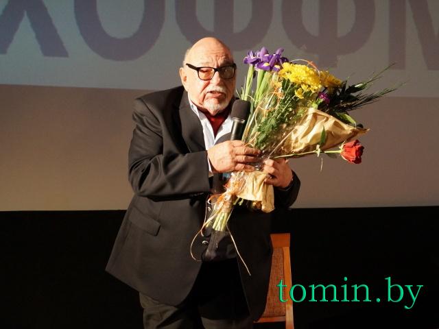 Польский режиссер Ежи Хоффман в Бресте. Фото Тамары ТИБОРОВСКОЙ