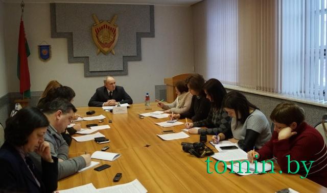 Пресс-конференция прокурора Брестской области Виктора Климова.  Фото Тамары ТИБОРОВСКОЙ