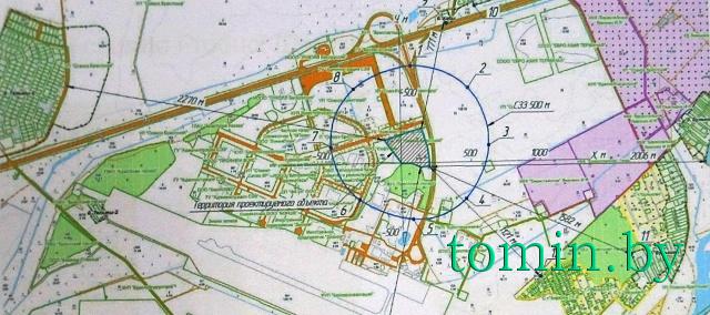 Строительство аккумуляторного завода под Брестом. Карта-схема. Фото Тамары ТИБОРОВСКОЙ
