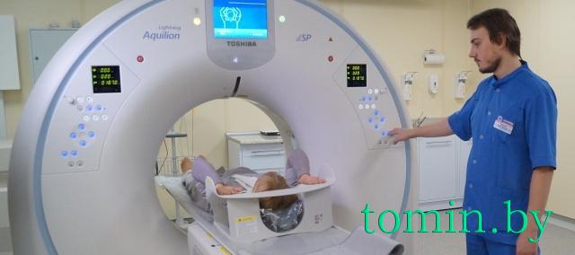 Японский компьютерный томограф Aquilion Lightning в Брестской областной больнице. Фото Тамары ТИБОРОВСКОЙ